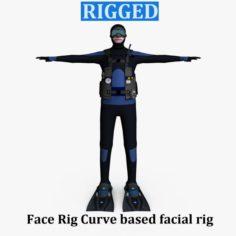 Scuba Diver 01 3D Model