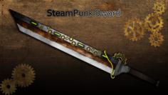 SteamPunk Sword 3D Model