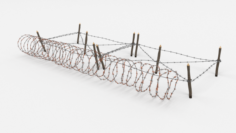 Barb Wire Obstacle 20 3D Model