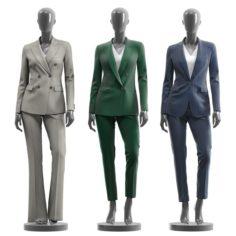 Woman Suits mannequin 3D Model