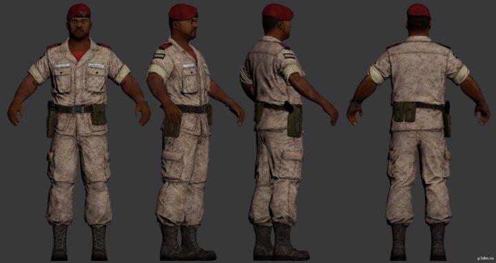 Medici Military regular soldier 3D Model