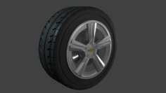 Chevrolet camaro wheel 3D Model