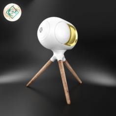 Gold Phantom Speaker 3D Model