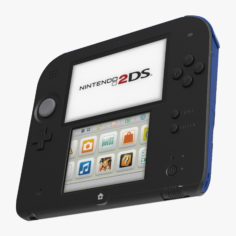 Nintendo 2DS Handheld Game Console 3D Model