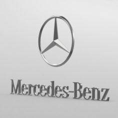Mercedes benz logo 3D Model