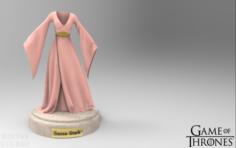 Game of Thrones Sansa Stark Clothes 3D Model