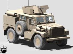 Cougar H MRAP 3D Model