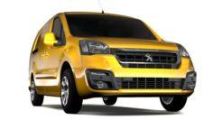 Peugeot Partner Van L2 Electric 2017 3D Model