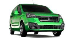 Peugeot Partner Van L2 2slidedoors 2017 3D Model