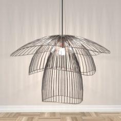 Papillon Large Pendant 3D Model