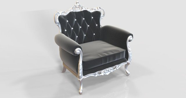 Classic French Arm Chair 3D Model