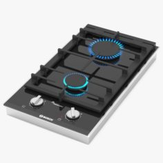 BOSCH Domino gas hob PRB3A6D70 Serie 8 3D Model