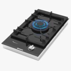 BOSCH Domino gas hob PRA3A6D70 Serie 8 3D Model