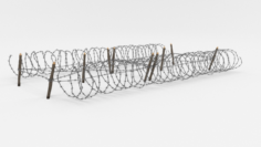 Barb Wire Obstacle 21 3D Model
