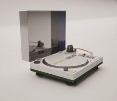 Vinyl player Roland 3D Model
