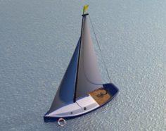 Pleasure boat 3D Model