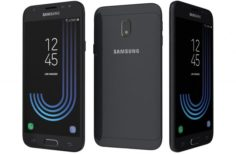Samsung Galaxy J3 2017 Black 3D Model