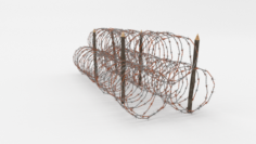 Barb Wire Obstacle 14 3D Model