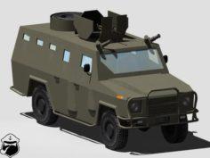 AMZ Dzik-3 3D Model