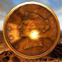 Pld american coin 3D Model