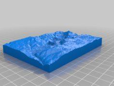 Yosemite Valley 3D Print Model