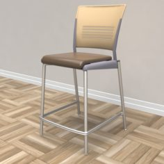 Strive Cafe Stool 3D Model