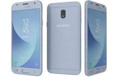 Samsung Galaxy J3 2017 Blue 3D Model