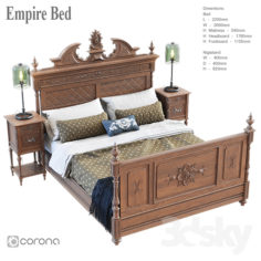 Empire bed                                      3D Model