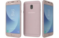 Samsung Galaxy J3 2017 Pink 3D Model