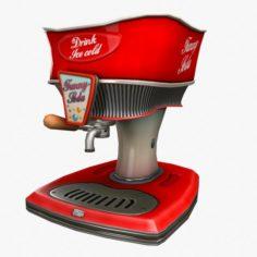 Cartoon Cola Dispenser 3D Model