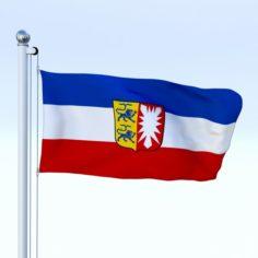 Animated Schleswig-Holstein German State Flag 3D Model