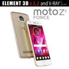 Moto Z2 Force GOLD model 3D Model