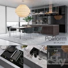 Kitchen Poliform Varenna My Planet (vray GGX, corona PBR)                                      3D Model