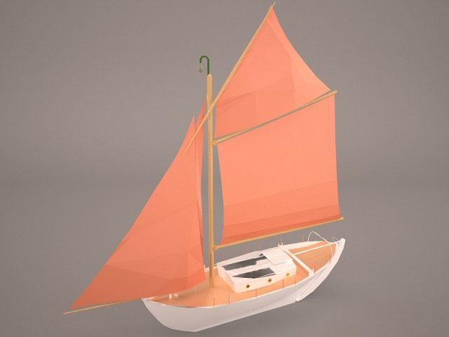 Kurunt Ship Free 3D Model