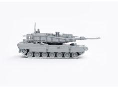K2 Black Panther Tank Simple Model Kit 3D Print Model