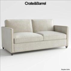 Crate and Barrel Dryden full sleeper sofa 3D Model
