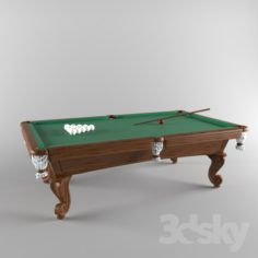 A pool table                                      Free 3D Model