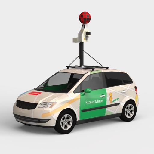 Street View Car 3D Model