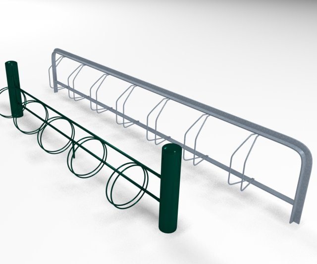 2X Bicycle racks 3D Model