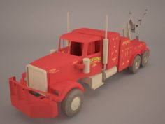 Heavy Duty Towing Truck 3D Model