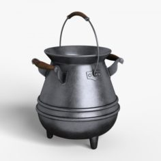 Cartoon Pot 3D Model