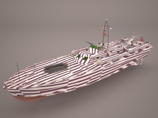 Iver Huitfeldt Frigate LOD 1 3D Model
