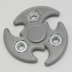 Tri Shuriken Spinner with M10 Hex Nuts 3D Print Model
