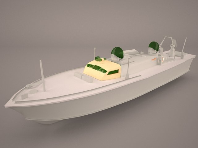 Iver Huitfeldt Frigate LOD 3D Model