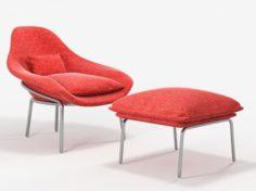 West elm rowan chair 3D Model