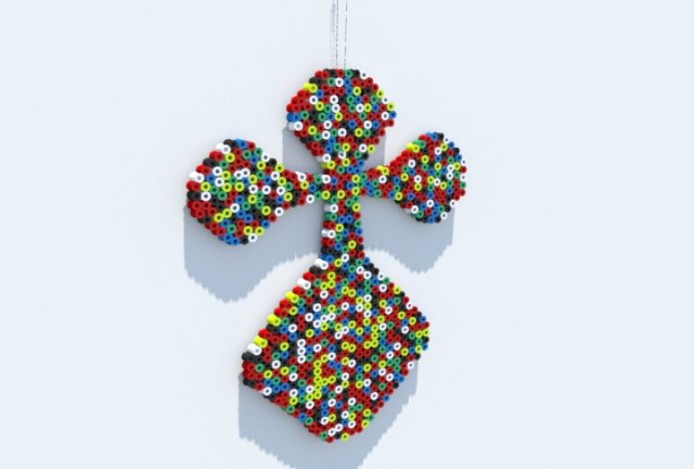 Perler Beads Crucifix 3D Model