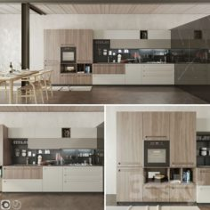 Kitchen Cucina Mood Stosa                                      3D Model