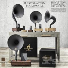 Restoration Hardware – Gramophone Set                                      3D Model