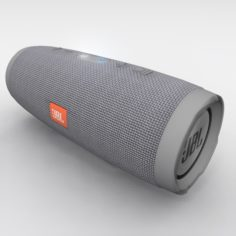 JBL Charge 3 Gray Bluetooth Portable Speaker 3D Model