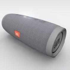JBL Charge 3 Gray Bluetooth Portable Speaker 3D Model